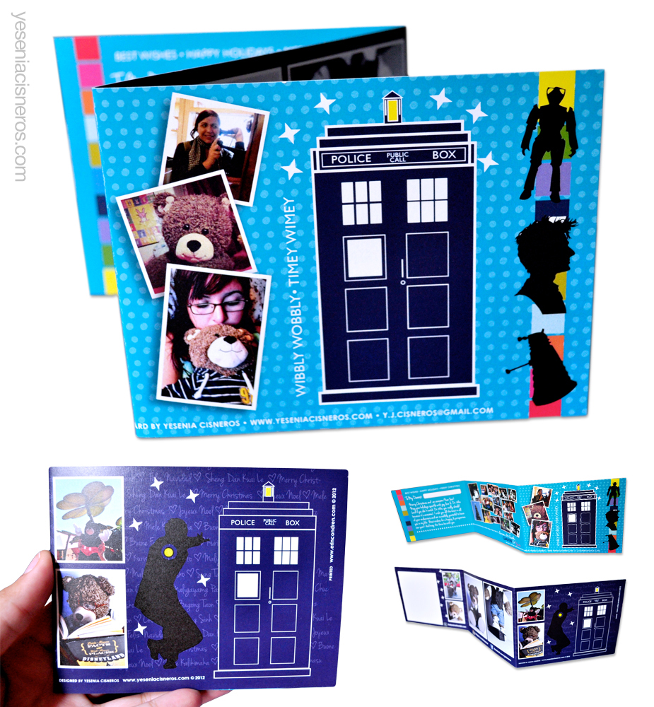 Custom designed Dr. Who themed holiday card for Christmas 2012.